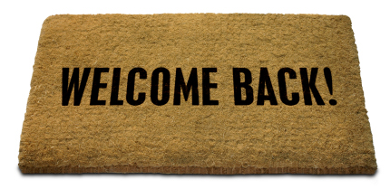 Image result for welcome back word