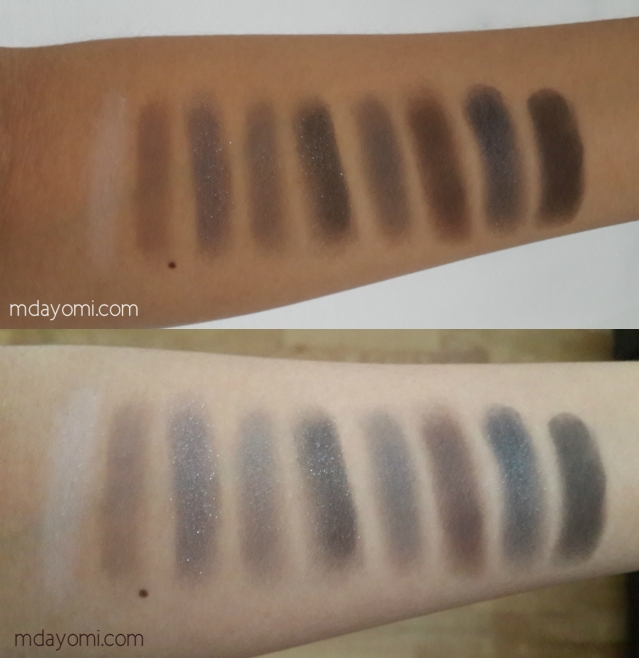 H&M beauty smoky essential eyeshadow palette colors