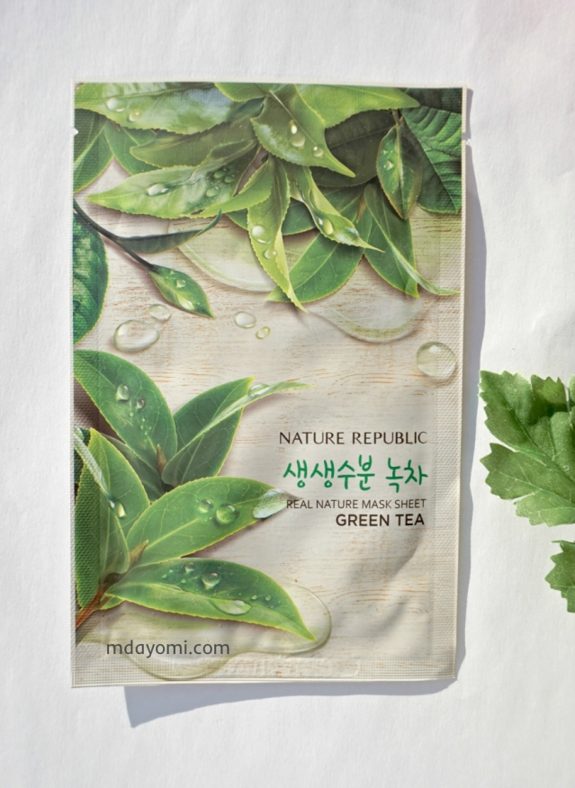Beauty Review Natur Republic Real Nature Mask Sheet Green Tea